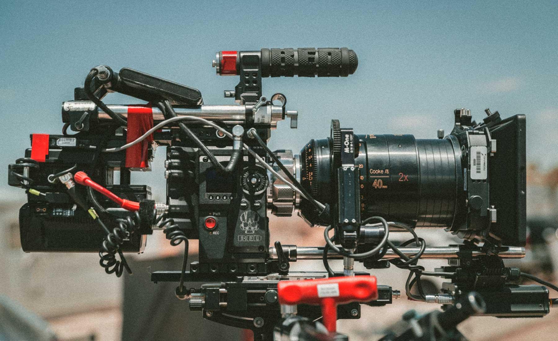 cámara de grabación profesional red